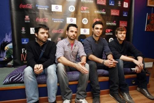Hugo de la Riva y Pablo Conde, en el centro, entre otros finalistas del IV FECICAM (FOTO: La Tribuna de Ciudad Real)