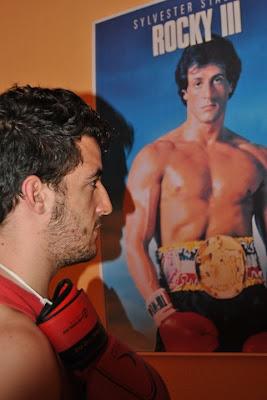 Franz Gómez durante la obra Quiero ser como Rocky