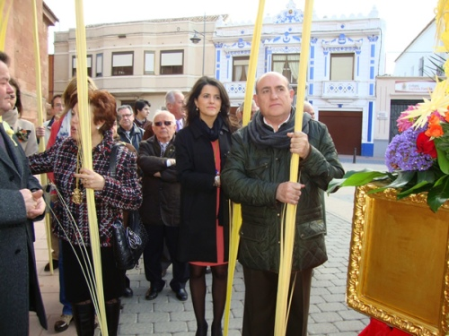 Autoridades locales en la procesión