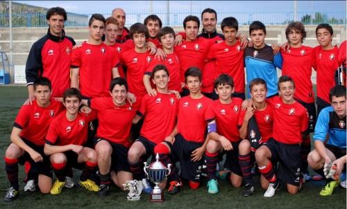 Club Atlético Osasuna, único equipo capaz de ganar a la Escuela de Fútbol de Alcázar de San Juan