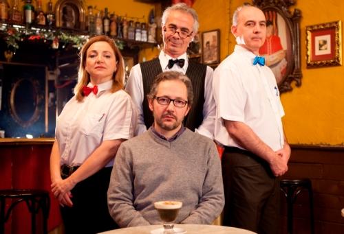 De izda a dcha, los actores: Felicidad Torres, Miguel Romero, Ezequiel Ransanz y Pablo Paniagua (FOTO: Hugo De la Riva)