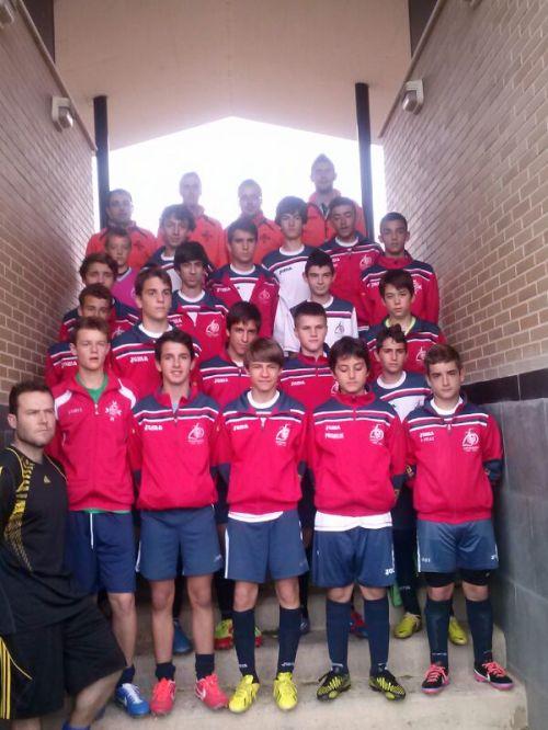 Equipo de infantiles de la Escuela de Fútbol de Alcázar de San Juan