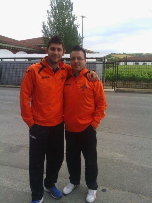 Sergio Esteban y David  Raya, los técnicos responsables de este éxito