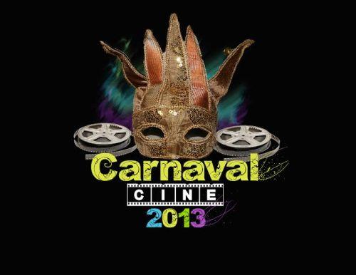 Logo del cartel del II CarnavalCine, la fiesta benéfica de disfraces de Alcázar de San Juan (DISEÑO: Sergio Prados)