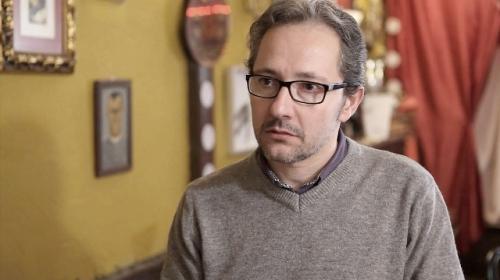 """El actor alcazareño Ezequiel Ransanz, uno de los protagonistas del cortometraje """"Café Irlandés"""" (Foto: AGUSTÍN GONZÁLEZ)"""