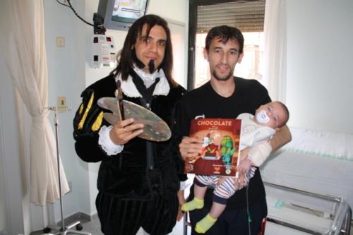 Greco en el Día del Libro Hospital Mancha Centro