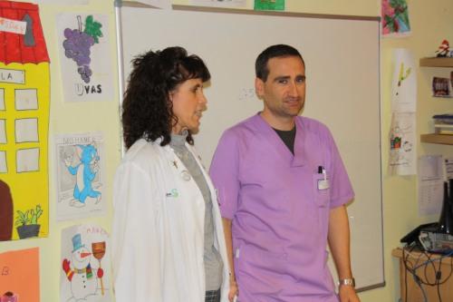 Subdirectora de Enfermería y profesor Aula Hospitalaria