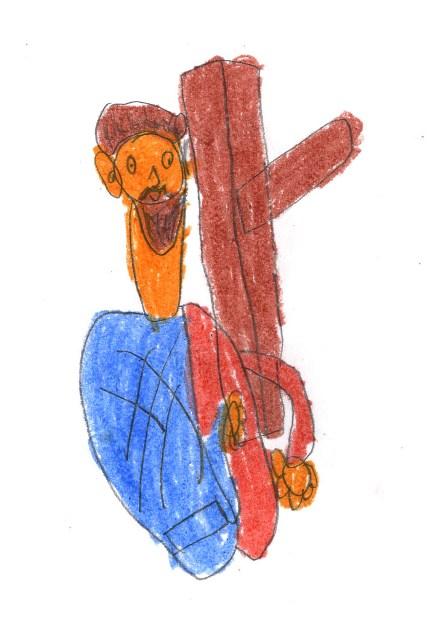 Dibujo ganador de Matei 7 años