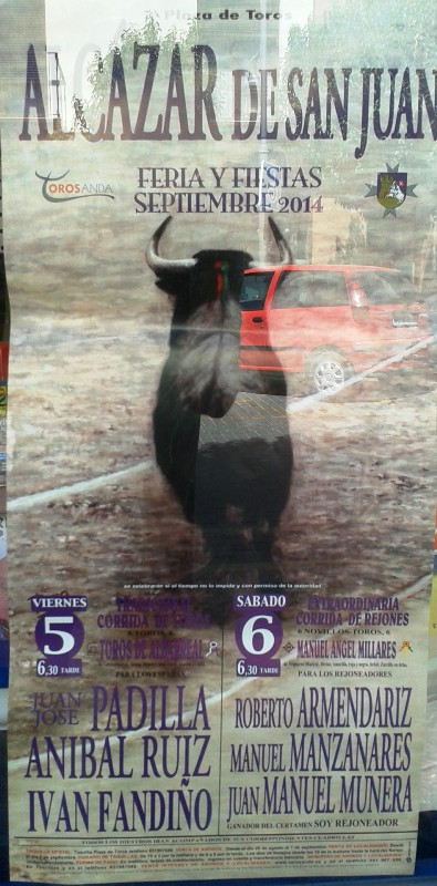 Cartel taurino de la feria 2014