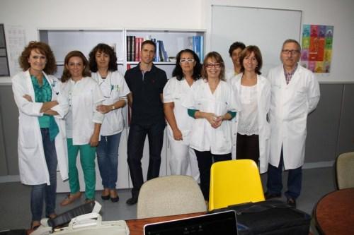 Profesionales del C.S. Madridejos con neurólogo del Hospital