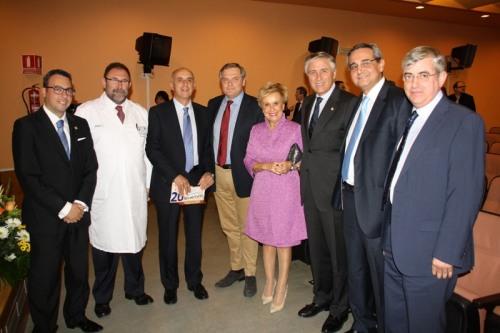 Autoridades asistentes al acto, entre ellos los diputados Carmen Quintanilla y Francisco Cañizares