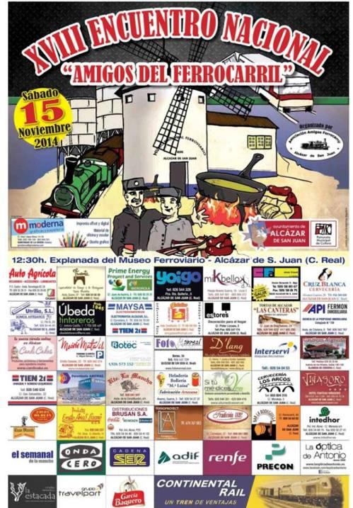 Cartel anunciador del evento, con las empresas patrocinadoras