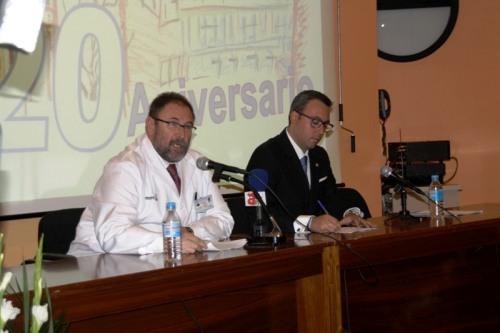 Discurso gerente actual Jesús Fernández junto al alcalde de Alcázar