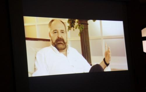 Fotograma del vídeo conmemorativo de Hugo de la Riva