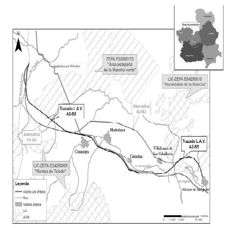 Declaración de Impacto Ambiental (DIA) aprobada para el tramo Mora-Alcázar y publicada en el BOE de 08-08-2008