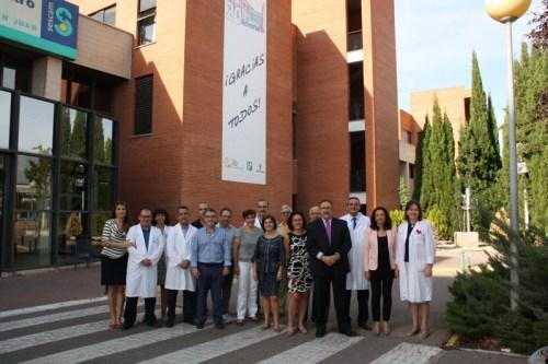 Miembros del Comité organizador de los actos del 20 aniversario junto a la Gerencia de Área Integrada de Alcázar
