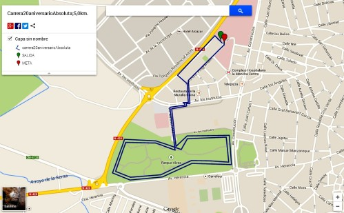 Recorrido de la carrera de 5 km