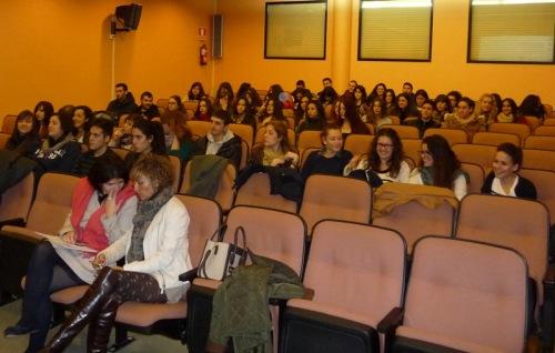 Alumnos Talavera en el Salón de Actos