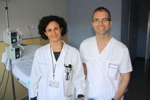 Antonio Hernández con una de las directoras de su tesis, la dr Ana Pascual