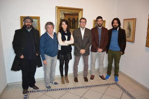 Artistas expositores y autoridades