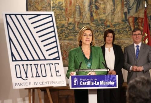 Cospedal presenta el logo del IV centenario de la publicación de la segunda parte del Quijote 2