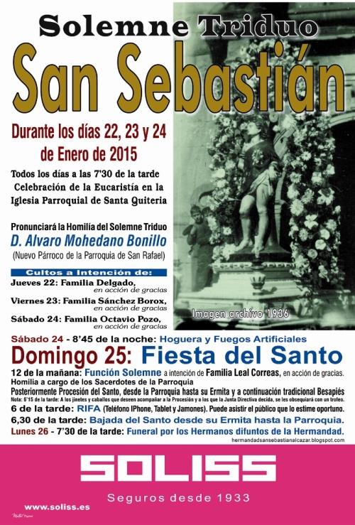 Cartel de las Fiestas de San Sebastián. 2015