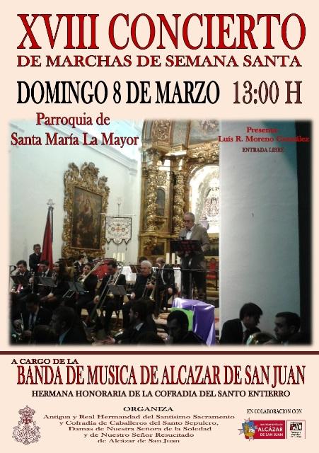 Cartel del Concierto de Marchas de Semana Santa