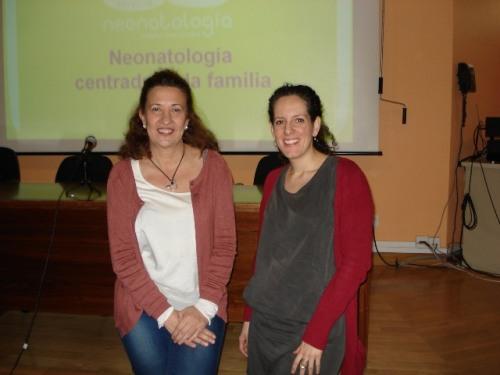 Las ponentes Juliana Acuña (izq) y Sara Vázquez
