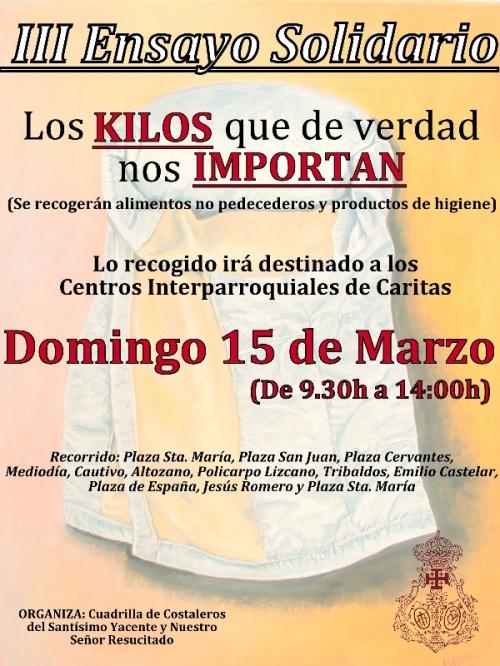 Cartel Ensayo Solidario 2015