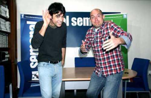 Los periodistas alcazareños Pablo Conde y Jesús Villajos, presentadores de este programa de radio por Internet