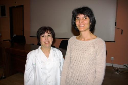 Amparo Onieva y África Avilés, enfermeras Medicina Interna Alcázar