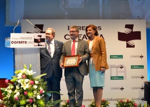 Entrega del premio COFARTA a Juan Carlos Valenzuela