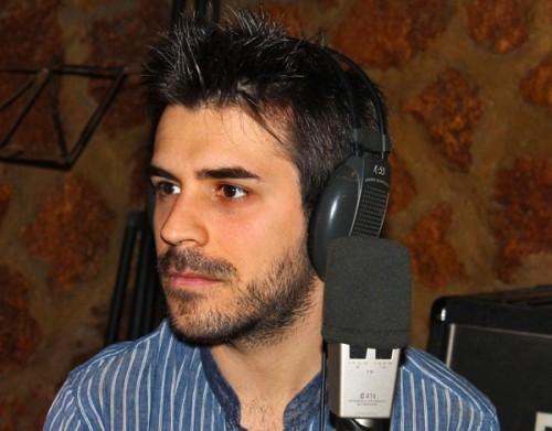 El compositor de música Oscar Escudero en los Estudios Tiramillas de Alcázar de San Juan (FOTO: Jesús Villajos)