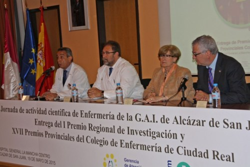 Mesa inaugural V Jornada Actividad científica Alcázar