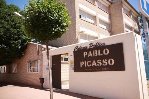 Colegio Picasso en el que se ha impartido charla fotoprotección
