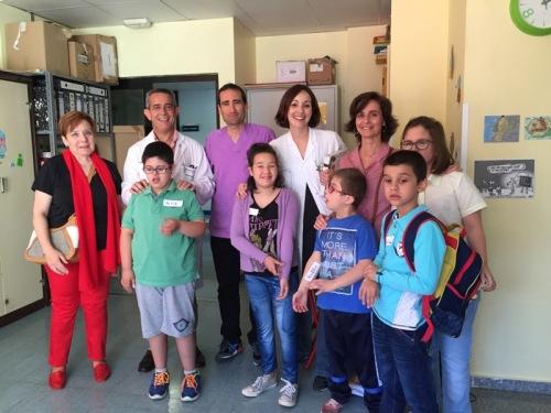 Foto de familia visita alumnos María Auxiliadora Criptana