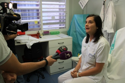 Enfermera Eugenia Martín posible donante