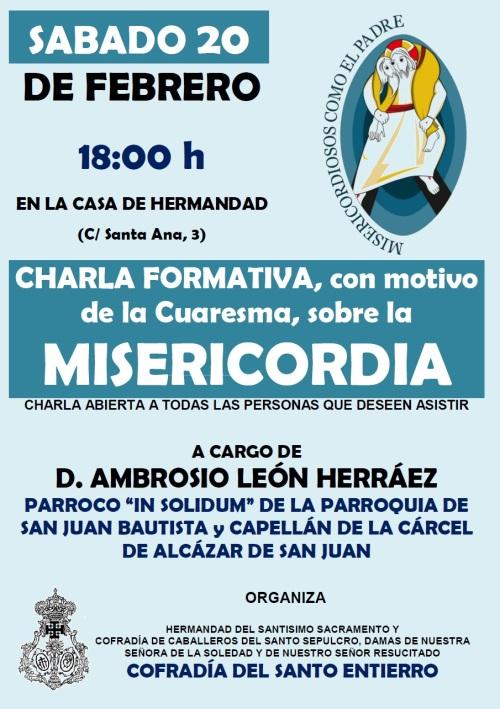 CARTEL CHARLA AMBROSIO MISERICORDIA A4