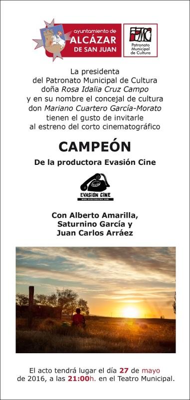 INVITACIÓN CAMPEÓN